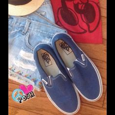 Classic Slip-on VANS  Classic Royal  Blue Slip-on Vans  Size W8  ✌ Very Good, Clean Preloved condition ✌️  NO TRADE Vans Shoes Sneakers