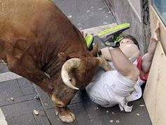 Man gored to death filming Spanish bull run on his mobile