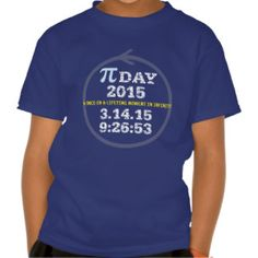 Pi Day 2015: A once-in-a-lifetime moment Tee Shirt