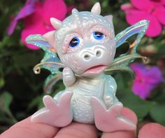 Baby Dragon   Fantasy Baby Dragon - One Of A Kind Polymer Clay Sculptures