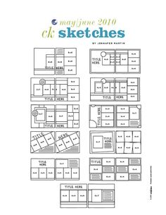 CK Sketches] Sketches for cards & scrapping #sketchess