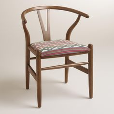 Donnan Wishbone Armchair with Upholstered Seat