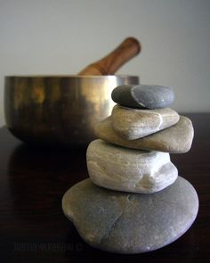 Zen / Cairn Tower / Om / Meditation / Singing Bowl / Spiritual / Reiki / Energy Healing