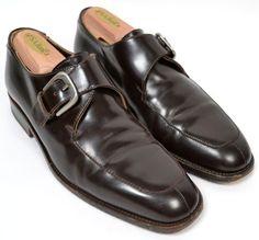 TO BOOT NEW YORK ADAM DERRICK Brown Monk Strap Dress Shoes Mens Size US 7 #ToBootNewYork #LoafersSlipOns
