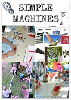 TONS of great ideas for teaching kids about simple machines, including videos, toys, and printables from  Racheous - Lovable Learning