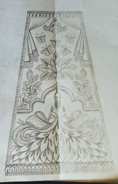 Border Embroidery Designs, Types Of Embroidery, Hand Embroidery Patterns, Machine Embroidery Projects, Machine Embroidery Applique, Embroidery Letters, Embroidery Art, Paisley Background, Geometric Stencil