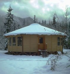 Yurt: efficient design in cold climes.