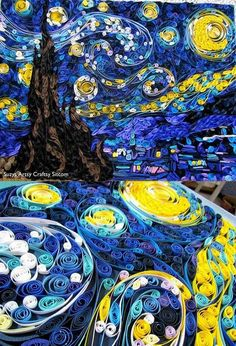 Quill Art Starry Night