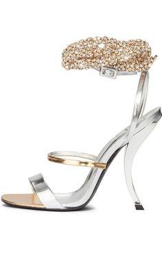 Roger Vivier White Luxury Sandal $3,500 #Shoes #Heels