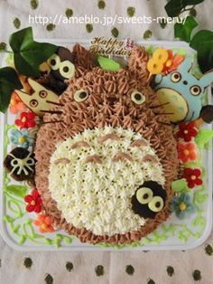 Totoro-you look so delicious. Totoro, Movie Crafts, Cupcake Collection, Baby 1st Birthday, Birthday Cakes, Novelty Cakes, Cakes For Boys, Love Cake, Cute Food