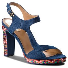 Σανδάλια DESIGUAL - Shoes Marilyn Ethnic Denim 18SSSD02 5053