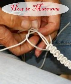 How To Macrame - Creating intricate knots which create complete patterns which can further be transformed into beautiful bracelets, flower pots and decorative wall hangings is what macramé is centred on as an art.