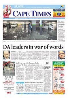 News making headlines: DA leaders in war of words
