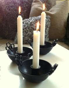 Tant Mossig Ceramic Bowls, Ceramic Pottery, Ceramic Candle Holders, Diy Clay, Clay Creations, Lampshades, Candlesticks, Home Accessories, Plates