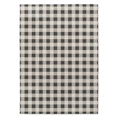 Kavka Designs Bw Gingham Black/ Grey/ Ivory Area Rug ( 3'X5' ) - 3' x 5'