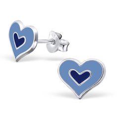 Kinderoorbellen zilver in de vorm van een hart € 7,95 Kijk op; http://blingdings.nl/kindersieraden/ GRAITS verzending binnen Nederland