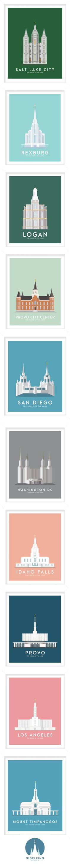 LDS Temple Prints | Salt Lake City | Washington DC | Provo City Center | Idaho Falls | Rexburg | Logan