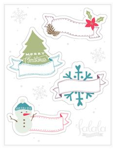 Printable Christmas Gift Tags by @Ana Feliciano