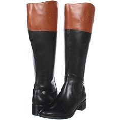 Womens Black Leather Style Wide Calf Fit Button Ladies Knee High ...