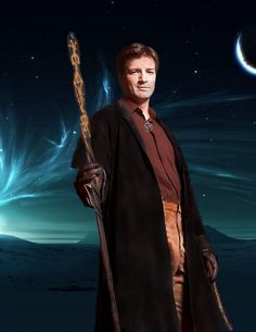 Nathan Fillion as Harry Dresden (updated) by PhoenixRose