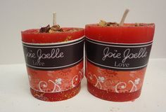 Love Red Votive  Spell  Candle Dressed with Herbs by Joellechan, $8.00
