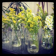 Fruit jars and wild flowers - perfect combination!