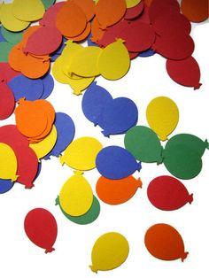 100 balloon punches, birthday, primary colors, embellishment, confetti, birthday decoration, $2.25
