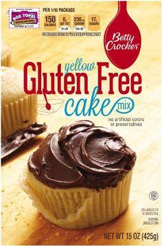 Betty Crocker Gluten Free Yellow Cake Mix, 15-Ounce Boxes (Pack of 6)