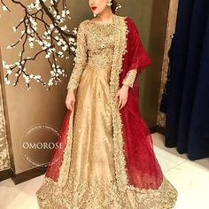 Elegant and rich looking wedding outfit Pakistani Bridal Lehenga, Pakistani Wedding Outfits, Bridal Outfits, Pakistani Shadi, Stylish Dresses, Casual Dresses, Fashion Dresses, Indian Dresses, Pakistani Dresses