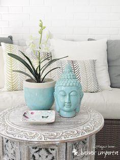 Buddha and flowerpot from BANAK.