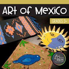 Elementary Art Lesson: Hispanic Heritage - Art of Mexico Artists For Kids, Art For Kids, Mexico For Kids, Elementary Art Lesson Plans, Hispanic Art, Cultural Crafts, Heritage Crafts, Hispanic Heritage Month, Art Worksheets