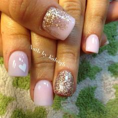 The Gel Polish Manicure Ideas are so perfect for short nails Hope they can inspire you and read the article to get the gallery. Fancy Nails, Love Nails, Pretty Nails, Shellac Nails, Acrylic Nails, Gel Nagel Design, Nails 2018, Dipped Nails, Nagel Gel