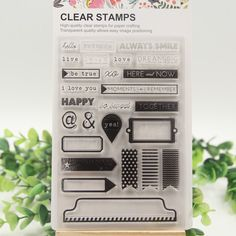 Aliexpress.com : Buy 1 sheet DIY Happy Love Transparent Clear Rubber Stamp Seal Paper Craft Scrapbooking Decoration from Reliable decorative craft furniture suppliers on  Wedding specialist
