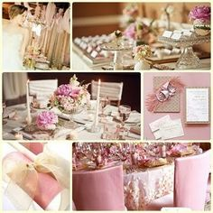 Love - pink & champagne wedding colors