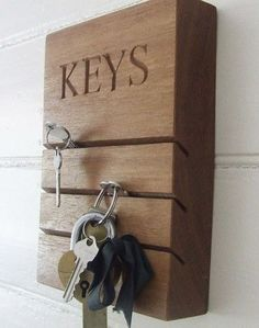Ivy House — WOODEN KEY HOLDER