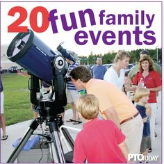 20 Fun Family Night Ideas Need a quick idea for an end-of-year family event at your school? Check out these ideas for PTO and PTA leaders! Pta School, School Events, Sunday School, Pta Programs, Preschool Family, Pto Today, Family Engagement, Family Fun Night, Family Events