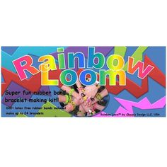 Rainbow Loom Kit Rubber Band Crafts, Rubber Bands, Rainbow Theme, Rainbow Colors, Rainbow Toys, Rubber Band Bracelet, Monster Tail, Rainbow Loom Patterns, Latex Free