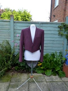 Upcycled purple tailcoat TWO PIECE SUIT  mens 42 by Izanaecocrafts