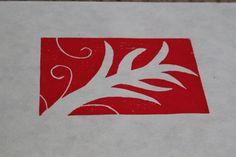 Botanical colorful wood block prints on 9x12 by HeatherKingArt, $5.00