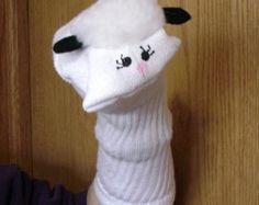 sheep sock puppet