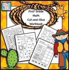 First grade math! This 53-page workbook covers ALL 21 of the first grade Common Core Standards in mathematics. There are 2 or more pages devoted to each standard. The pages come in a cut-and-glue format. While the layout of the pages is similar to my other sets, the problems and graphics are different. $