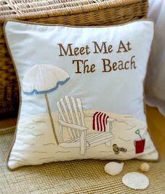 Meet me at the beach pillow on sale. Via The Ocean Beach Quotes Shop: Coastal Style, Coastal Decor, Coastal Living, Beach Quotes, Seaside Quotes, Beach Sayings, I Love The Beach, Shops, Pillow Quotes