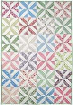 spring showers strip quilt kit, ruler, & free pdf pattern