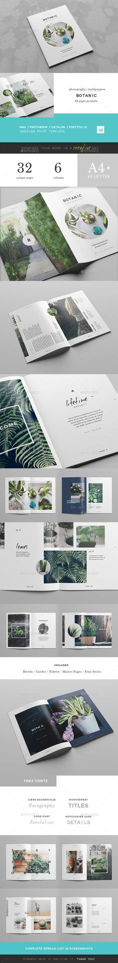 Botanic / Multipurpose Creative Portfolio by pagebeat. Price $17 #cleanbrochuredesign #minimalistbrochuredesign #modernbrochuredesign