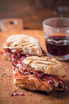 Prosciutto and Taleggio sandwich with fig preserves