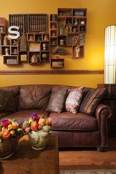 Una casa para enamorarse decorada con el estilo rústico....