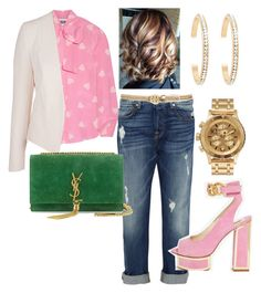 This is # 5 Boy meets Girlfriend Styles. by jacksoar on Polyvore featuring polyvore fashion style Moschino Topshop 7 For All Mankind Kat Maconie Yves Saint Laurent Nixon Forever New Tory Burch clothing