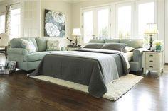 Daystar - Seafoam Wood Queen Sofa Sleeper