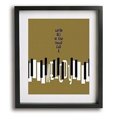 Billy Joel Piano Man Art: We're All in the Mood for a Melody.