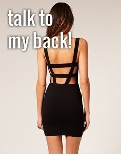 ASOS Body-Conscious Dress with Strap Back Detail